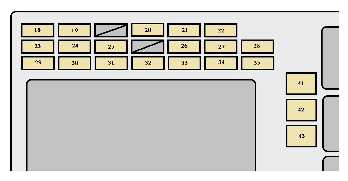 toyota corolla  2005 - 2007  - fuse box diagram