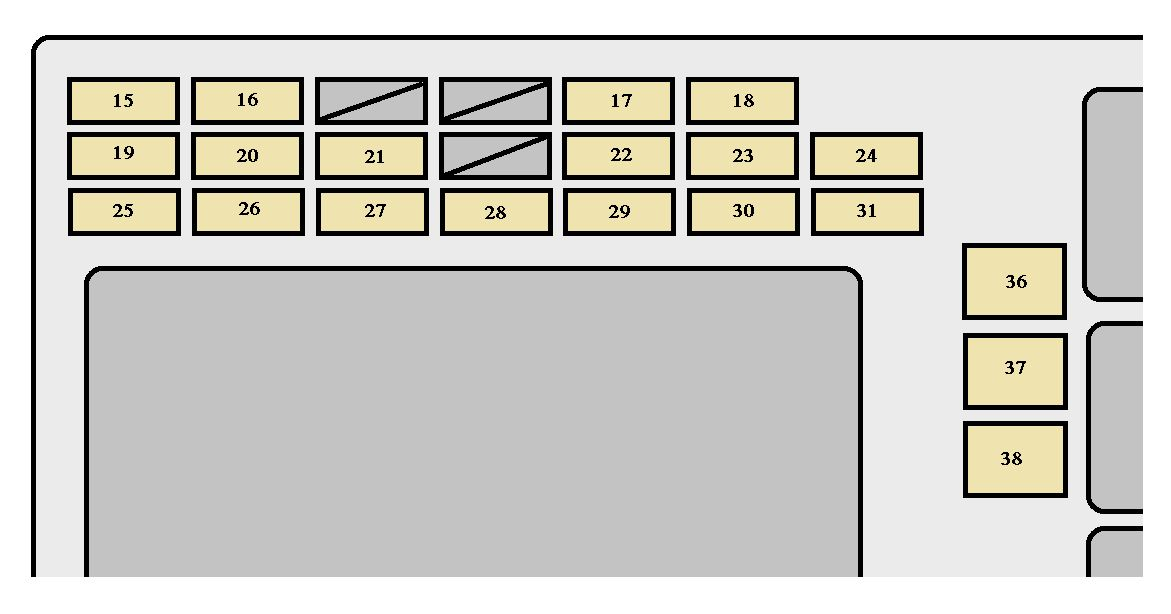 toyota corolla  2002 - 2004  - fuse box diagram