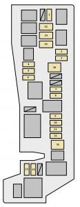 Toyota Matrix mk1 - fuse box - engine compartment