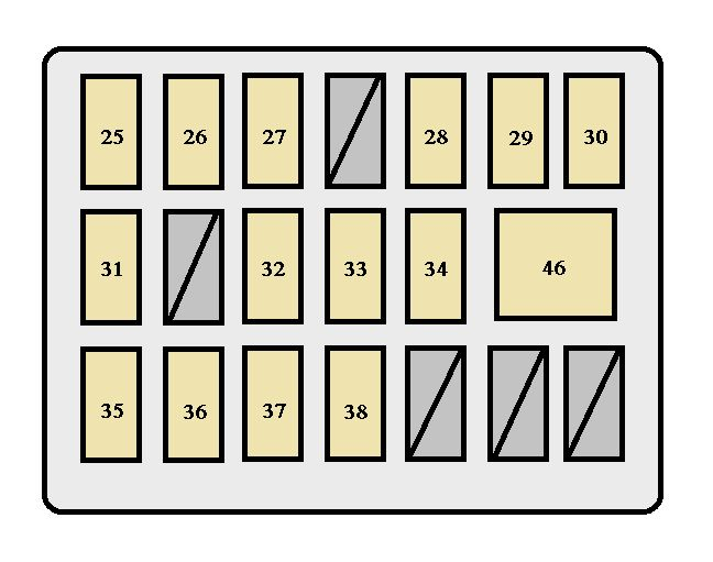 toyota tacoma (2005 - 2008) - fuse box diagram - auto genius 2012 toyota tacoma fuse box diagram #3