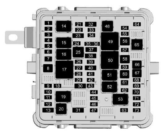 cadillac ct6 sedan  from 2016  fuse box diagram auto