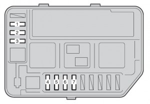 Toyota Yaris Hatchback - fuse box - engine compartment (type B)