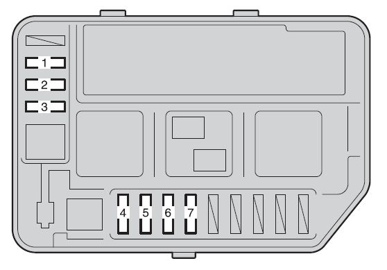 Toyota Yaris Hatchback  2011  - Fuse Box Diagram