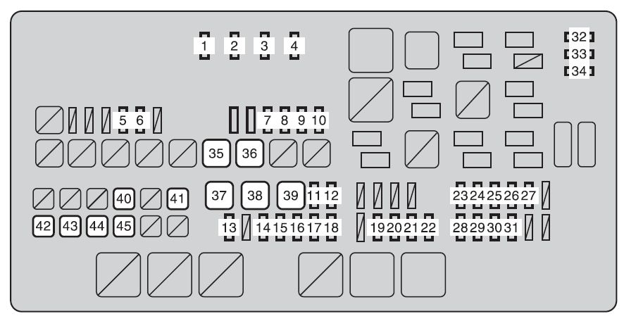 toyota tundra (2009) – fuse box diagram