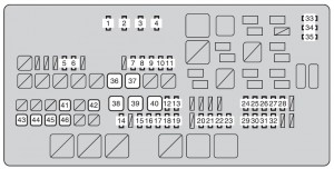 Toyota tundra mk2 fuse box engine compartment 2010 300x152 toyota tundra second generation mk2 (2010) fuse box diagram 2010 tundra fuse box diagram at bayanpartner.co
