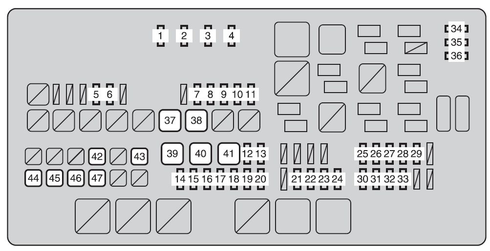 Toyota Tundra  2011 - 2012  - Fuse Box Diagram
