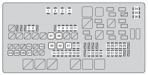 Toyota tundra mk2 fuse box engine compartment 2013 300x153 toyota tundra second generation mk2 (from 2013) fuse box diagram 2016 tundra fuse box location at gsmportal.co