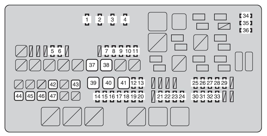 Toyota tundra mk2 fuse box engine compartment 2013 toyota tundra second generation mk2 (from 2013) fuse box diagram 2007 Toyota Tundra Fuse Box Diagram at pacquiaovsvargaslive.co