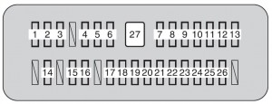 Toyota Tundra mk2 - fuse box - instrument panel