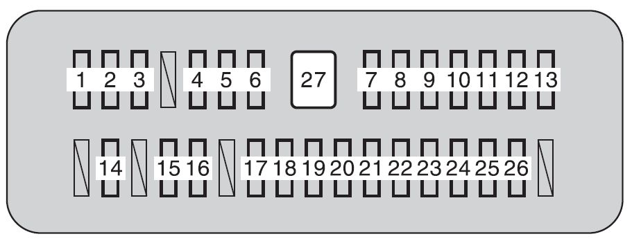 Toyota tundra mk2 fuse box instrument panel 2011 toyota tundra second generation mk2 (from 2013) fuse box diagram 2014 toyota tundra fuse box location at gsmx.co