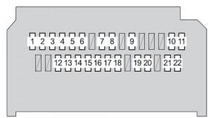 Toyota Yaris mk2 - fuse box - instrument panel (type B)