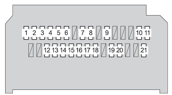 Toyota Yaris Mk2  2009 - 2011  - Fuse Box Diagram