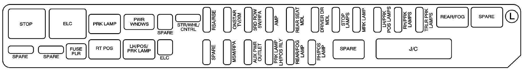 cadillac srx 2008 fuse box diagram auto genius rh autogenius info cadillac srx fuse box for tailgate 2010 cadillac srx fuse box location