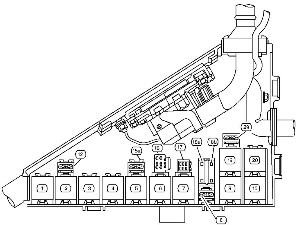 cadillac catera  1999 - 2000  - fuse box diagram
