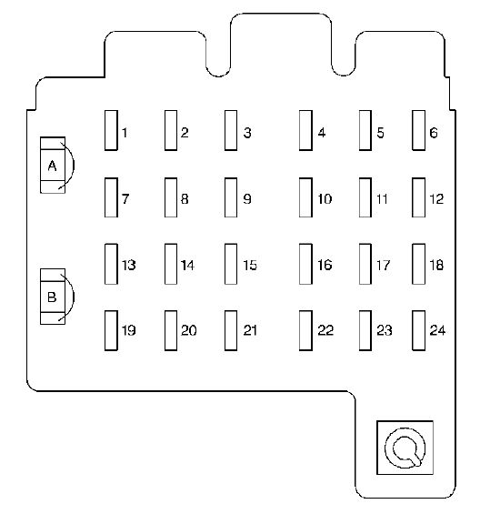 cadillac escalade  1998 - 2000  - fuse box diagram