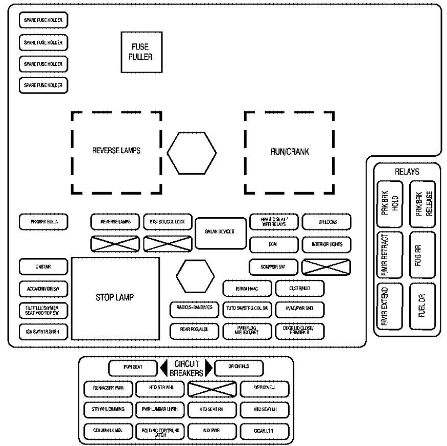 cadillac xlr fuse box  u2022 wiring diagram for free