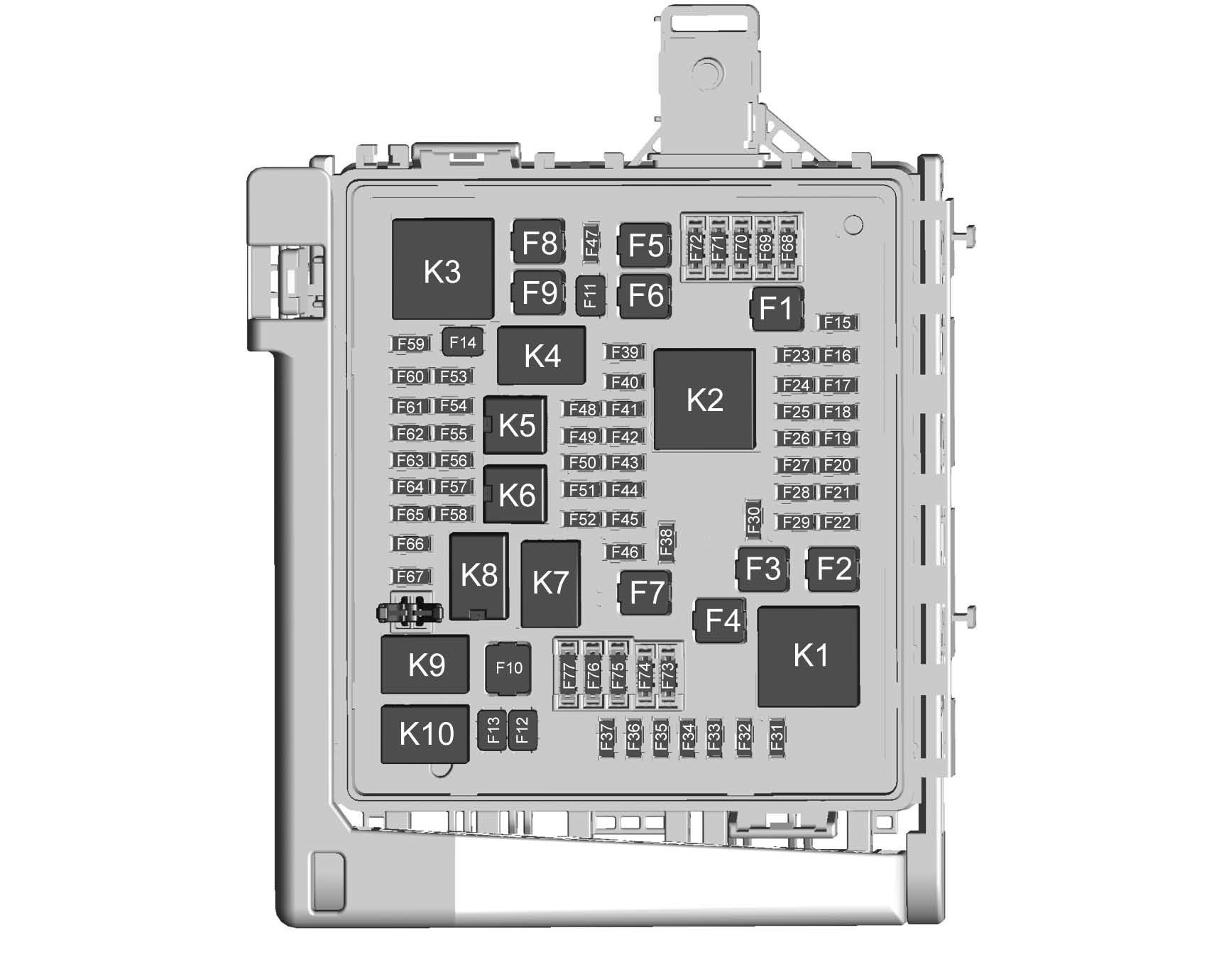 Cadillac Xt5  From 2017  - Fuse Box Diagram