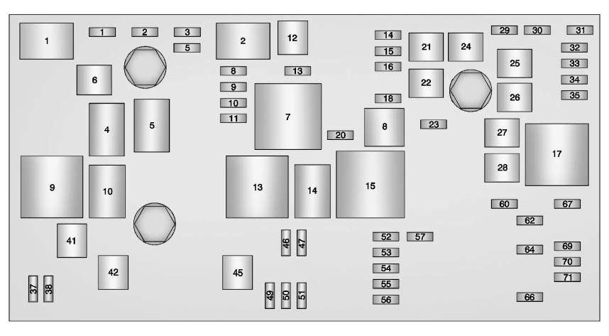 cadillac xts (2013) – fuse box diagram