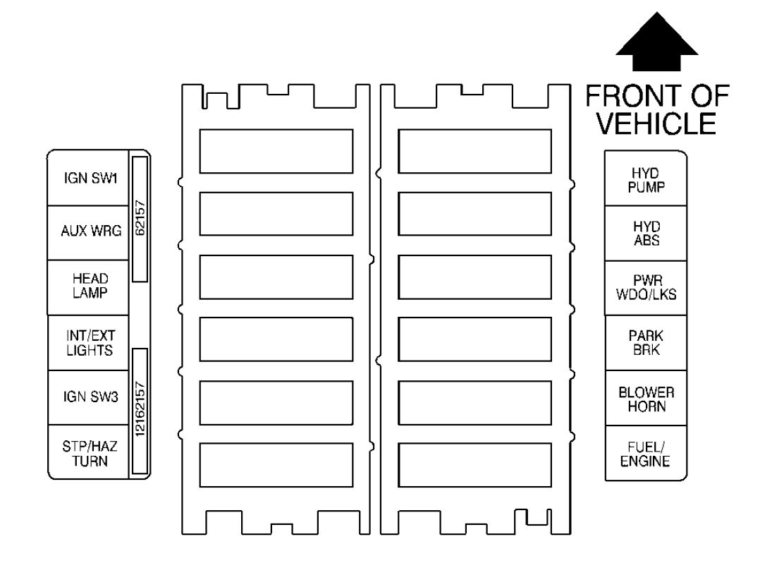 Gmc C Series Mk2 Second Generation 1990 1999 Fuse Box Diagram On A 1989 Lincoln Town Car Maxi Block