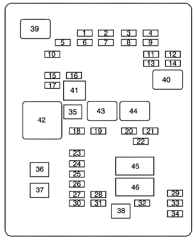 Gmc Savana  2008 - 2010  - Fuse Box Diagram