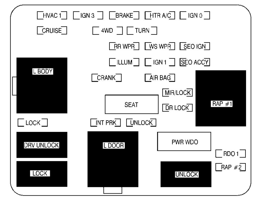 2002 gmc sierra 1500 fuse diagram gmc sierra mk1 (2001 - 2002) - fuse box diagram - auto genius #12