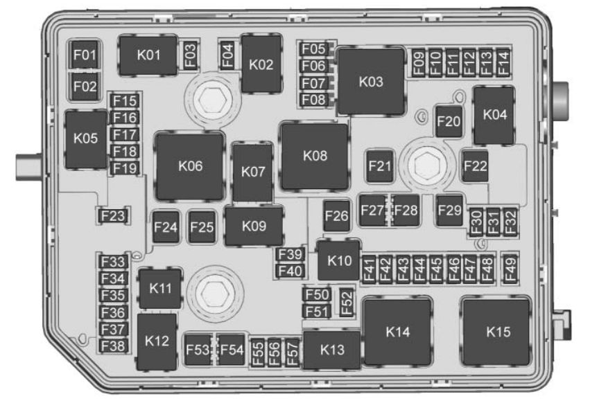 Buick Envision  2016 - 2017  - Fuse Box Diagram