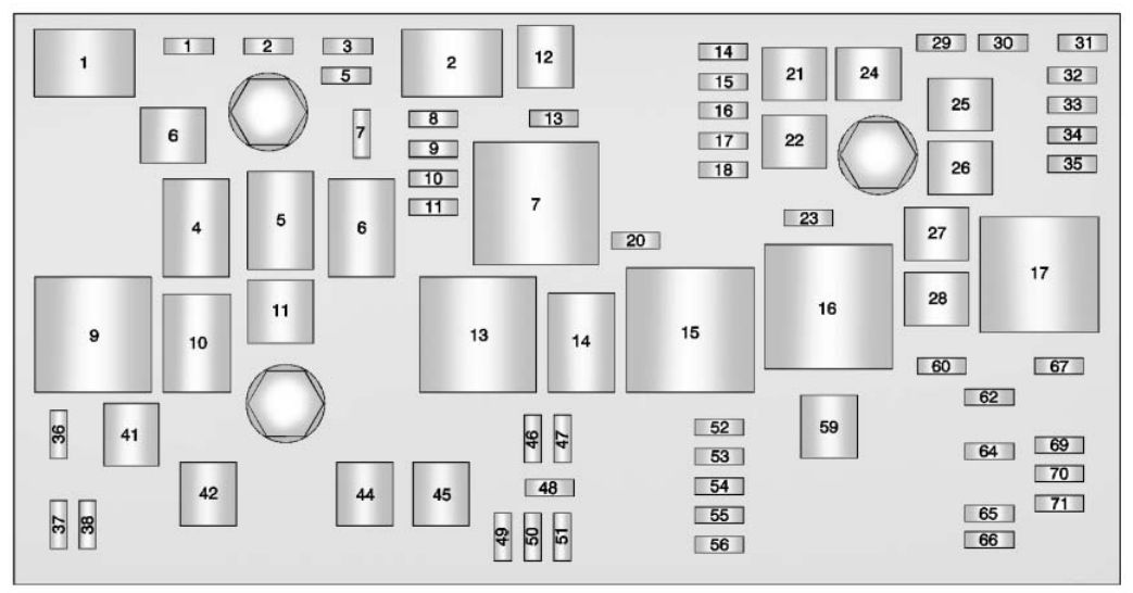 Buick LaCrosse (2011- 2012) - fuse box diagram - Auto Genius