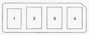 Geo Prizm - fuse box - engine compartment (relay box)