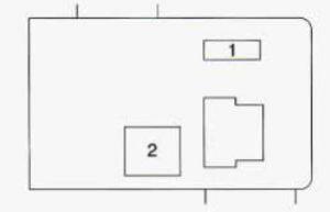 Geo Prizm - fuse box - passenger's side (kick panel)