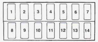 geo tracker (1996 – 1997) – fuse box diagram