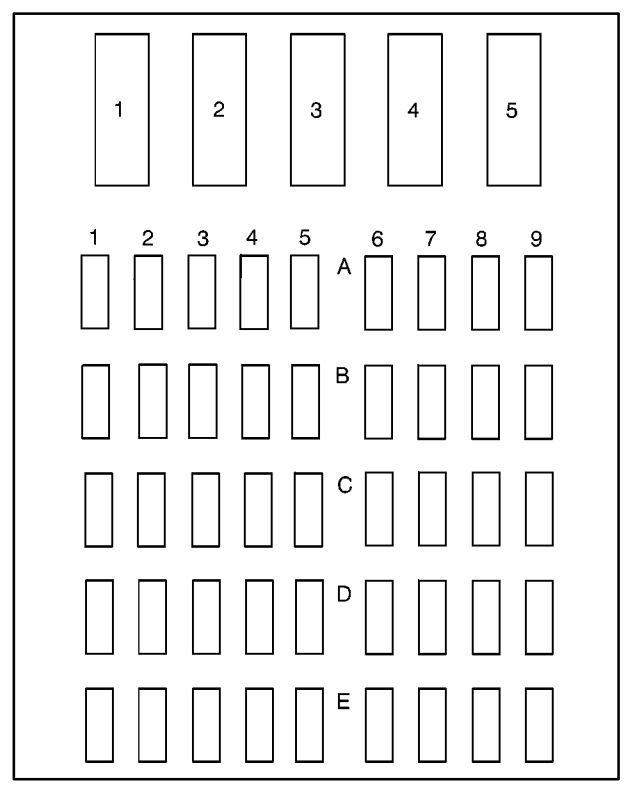 buick park avenue (1996) – fuse box diagram