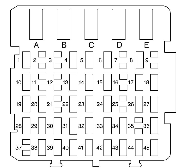 buick regal (1997 – 1999) – fuse box diagram