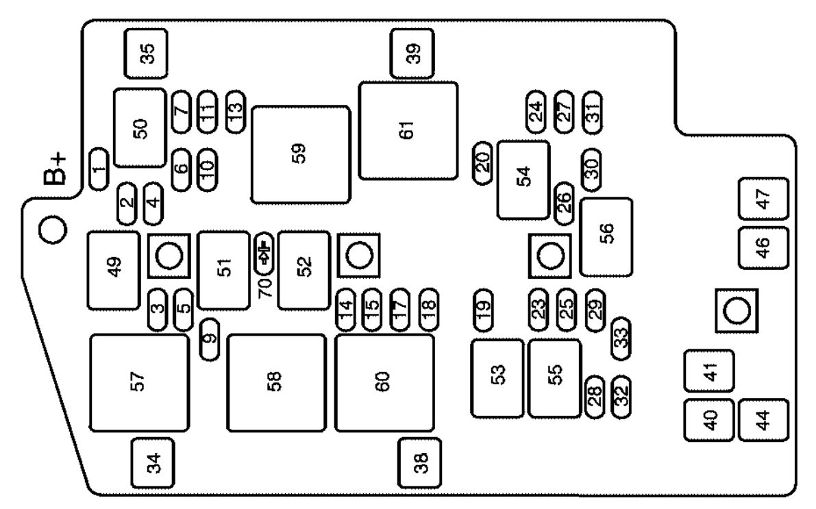 buick rendezvous  2004  - fuse box diagram