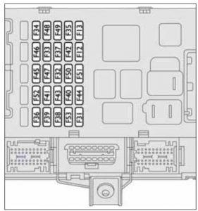 Fiat Ducato mk3 FL - fuse box - center instrument panel