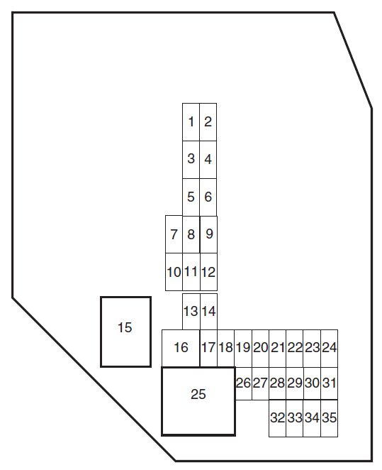 Ford Ranger  2010 - 2011  - Fuse Box Diagram
