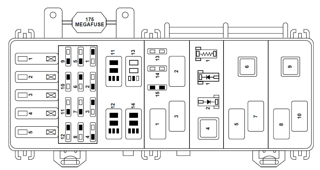 ford ranger fuse box power distribution 1998 mazda b2500 fuse diagram for 2001 on mazda download wirning diagrams  at bayanpartner.co