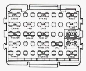 gmc sierra mk1 (1993 – 1994) – fuse box diagram