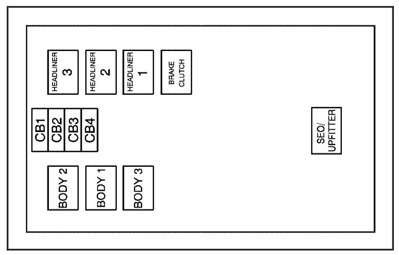 Gmc Yukon  2007  - Fuse Box Diagram