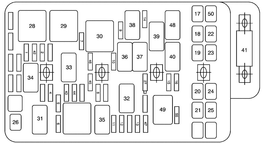 Saturn Aura  2009 - 2010  - Fuse Box Diagram