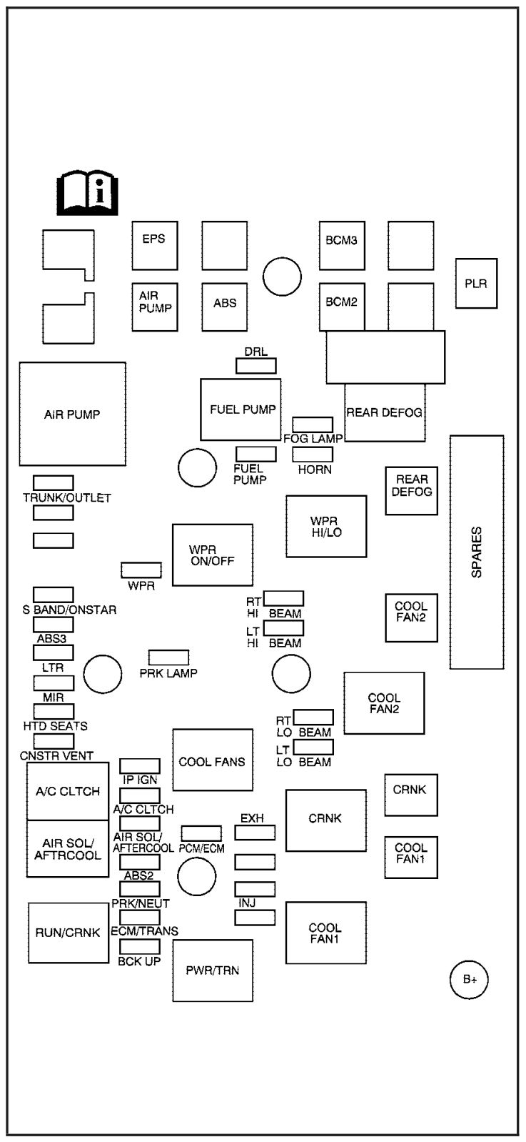 Pontiac G5  2007  - Fuse Box Diagram