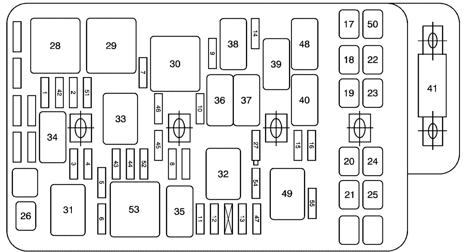 pontiac g6 fuse engine compartment g6 fuse box fuse diagram for 2006 pontiac grand am \u2022 wiring 2009 pontiac g5 fuse box location at crackthecode.co