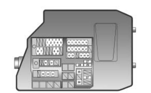 pontiac vibe (2010) – fuse box diagram