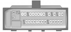 Pontiac Vibe - fuse box - instrument panel