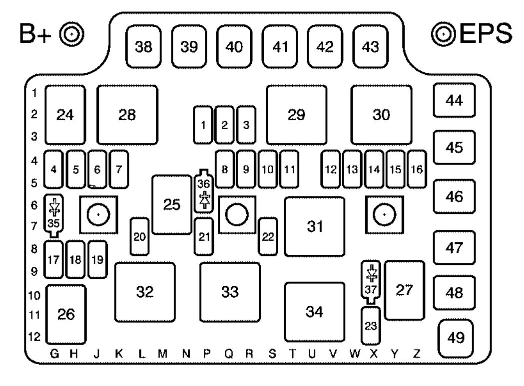 Saturn Ion  2006 - 2007  - Fuse Box Diagram