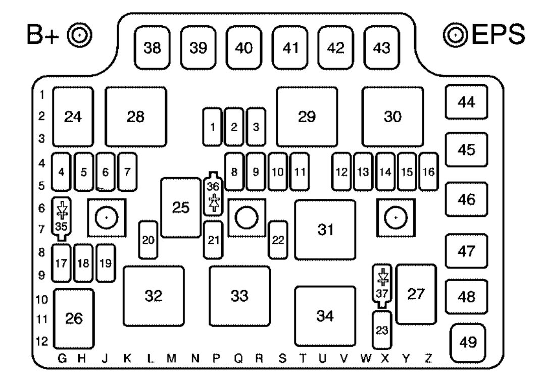 2006 saturn ion engine diagram saturn ion (2006 - 2007) - fuse box diagram - auto genius 2006 saturn ion fuse diagram