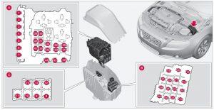 Volvo XC60 - fuse box - engine compartment