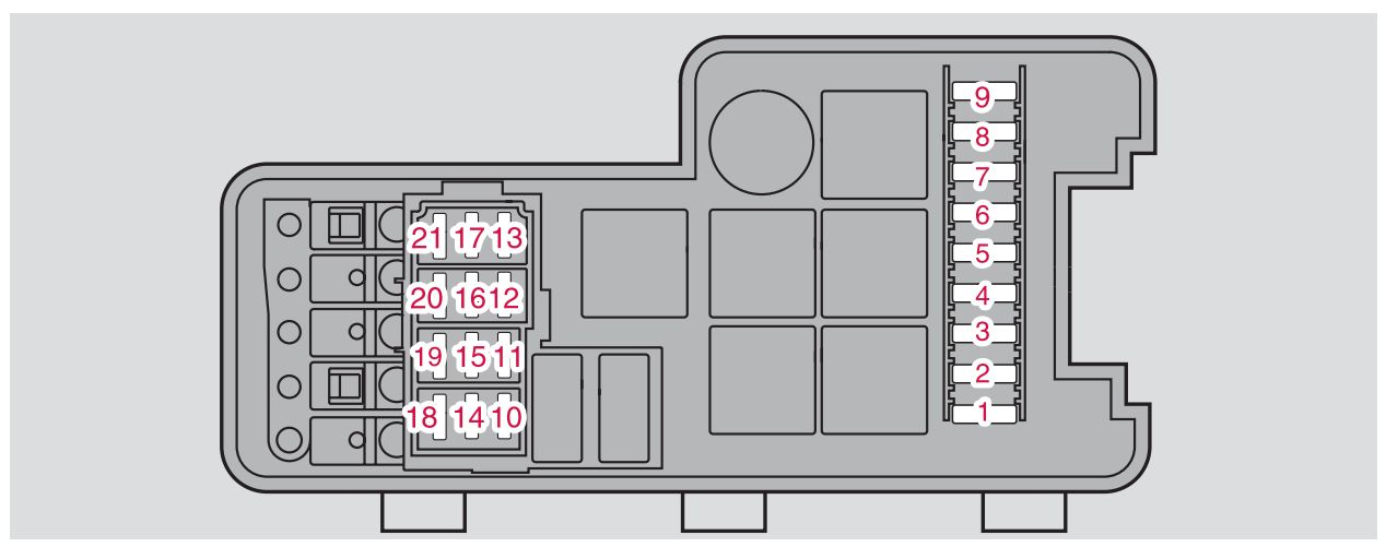 Volvo S60 Mk1  First Generation  2008  - Fuse Box Diagram