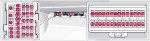 Volvo S80 - fuse box - glove compartment