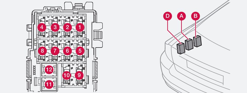volvo s80 fuse box tunk 2010 volvo s80 mk1 (first generation; 2007) fuse box diagram auto 05 Volvo S80 at readyjetset.co