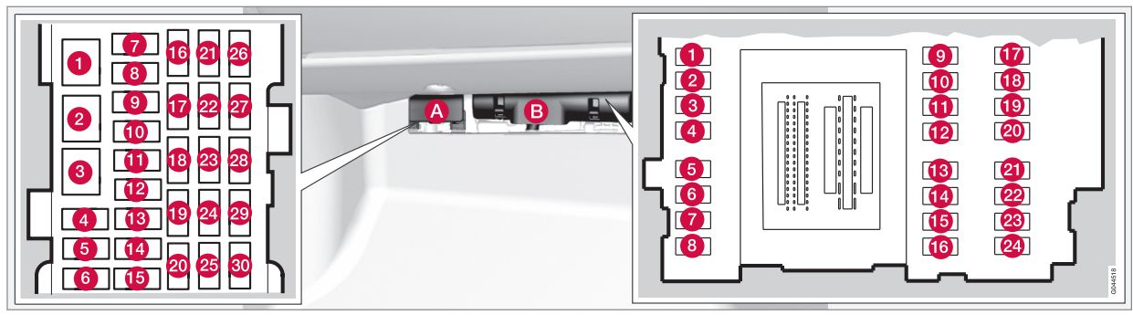 volvo xc60  2011  - fuse box diagram